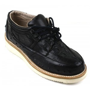 Men's Exotic Shoes Black Mil Rayas