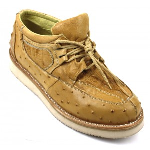Men's Exotic Shoes Camel Mil Rayas