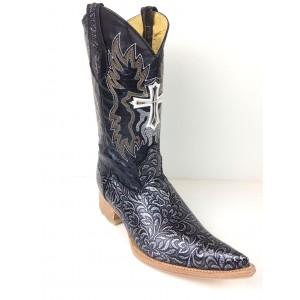 JUGO Boots® 2065 Bota de Hombre Vaquera Cincelado Plata