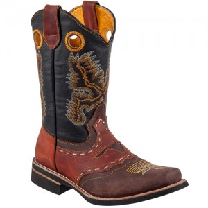 BOTA RODEO HOMBRE COSTURA CHOCO - CHEDRON