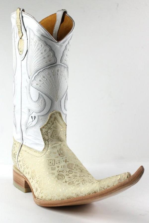 Jugo Boots® 4016 Bota de Hombre Vaquera Egipcias Hueso | El